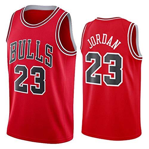 Hommes Femme NBA Michael Jordan 23# Chicago Bulls Chemise de Basket-Ball Retro Maillots d'été Uniforme de Basket-Ball Brodés Top