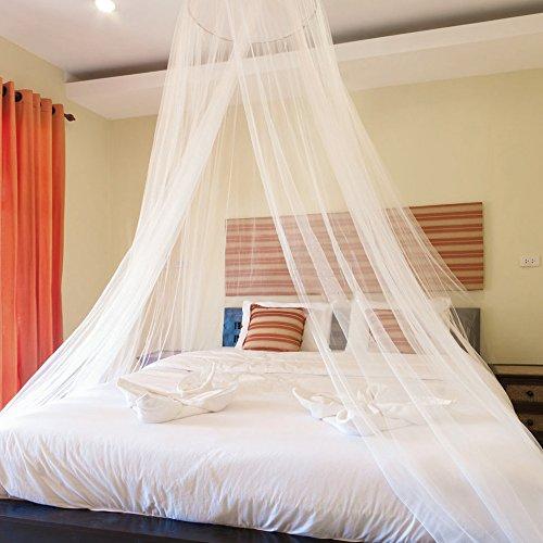 Moustiquaire Ciels de lit, Grande moustiquaire Insectes Protection Lit La Meilleure Moustiquaire Moustiquaire Protection Anti-Insectes, Convient à Tous Les Lits (Blanc)