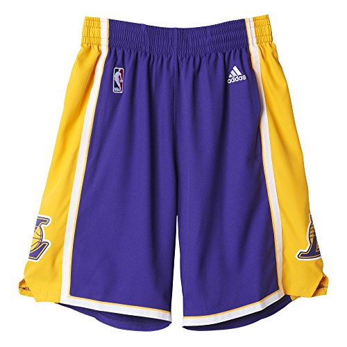 adidas Los Angeles Lakers Short Homme, Violet, FR : XXL (Taille Fabricant : 2XL)