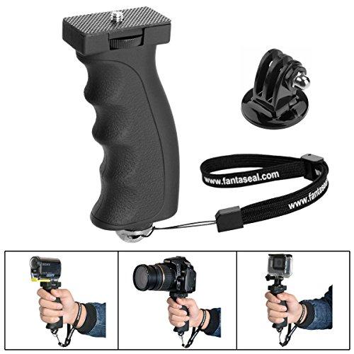 Fantaseal Poignée Grip Robuste, Portable Caméra Monopode Ergonomique Support pour Gopro Poignée Grip pour 1/4''DSLR Caméra Nikon Canon Pentax Olympus/GoPro Hero7/6/5/4/3+/Session DJI Action etc