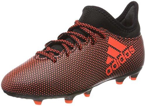 adidas X 17.3 FG J, Chaussures de Football garçon, Noir (Negbas/Rojsol/Narsol), 36 2/3 EU