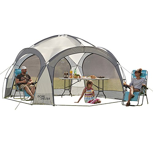 Dôme d'abri pour extérieur, protection UV Tente de réception avec panneaux latéraux pour la plage, les festivals et le camping