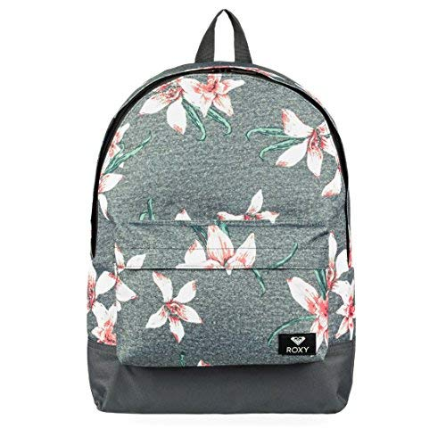 Roxy Sugar Baby Sac à dos pour femme Femme ERJBP03728 _rosa Rose / gris (charcoal heather flower field) 16 l