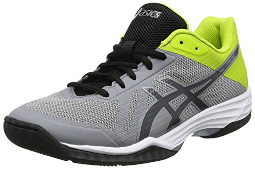 ASICS Gel-Tactic, Chaussures Multisport Indoor Homme, Gris (Aluminum/Dark Grey/Energy Green), 42 EU