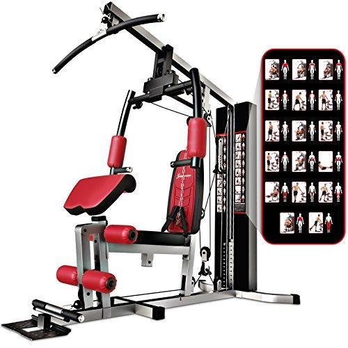 Sportstech La Station de Musculation Premium 30en1 HGX100 de pour des Variantes d'entraînement innombrables. Home-Gym Multifonction de materiaux EVA pour la Maison