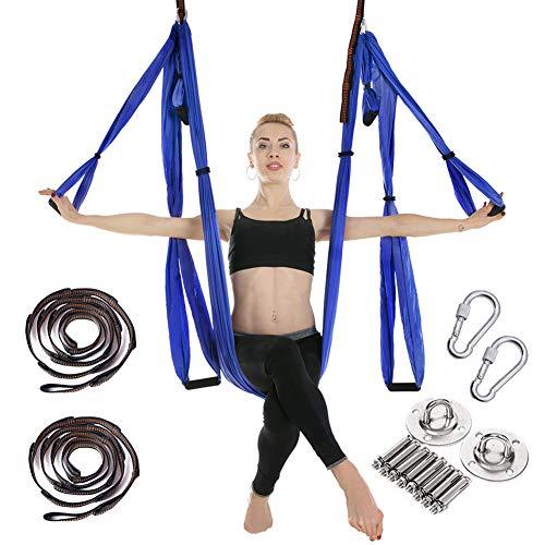 CleanDell Hamac de Yoga,Swing Hamac Sling chargé de 200 kilogrammes,250CM*150CM,Yoga Anti-gravité Hamac,Inversion de Yoga Balançoire,Dont 2 plaques d'acier Inoxydable, 2 Sangles d'extension