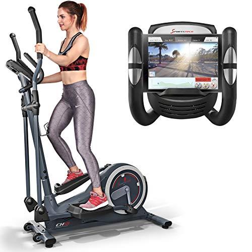 Sportstech Vélo elliptique CX625 ergomètre Compatible avec Application Smartphone, Poids d'inertie de 24 KG, entraînement, 22 programmes de Fitness avec HRC, Porte-Tablette (CX625)