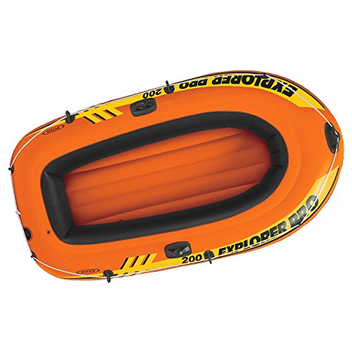 INTEX Explorer Pro – Bateau sans rames/inflateur 137 x 85 x 23 cm Orange