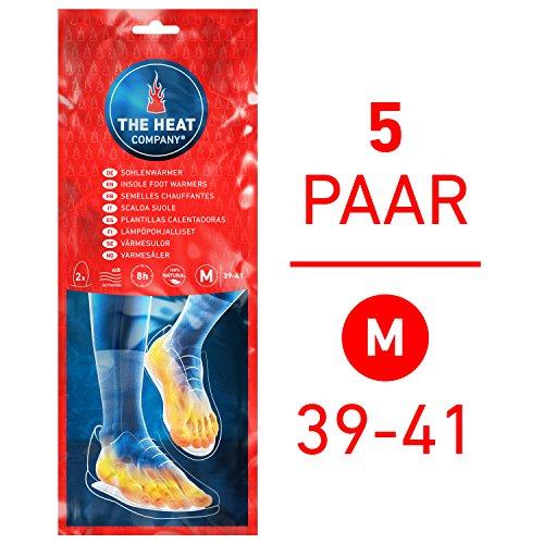 THE HEAT COMPANY Semelles Chauffantes | EXTRA CHAUD | 8 heures de chaleur | chaleur immédiate | autochauffante | 100% naturel | MEDIUM Taille: 39-41 | 5 paires