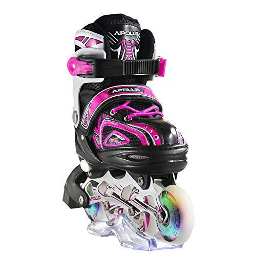 Apollo Super Blades X Pro, S, M, L, Roues LED illuminées Rollers Enfants idéals débutants , Patins à roulettes Confortables Patins Inline Filles garçons