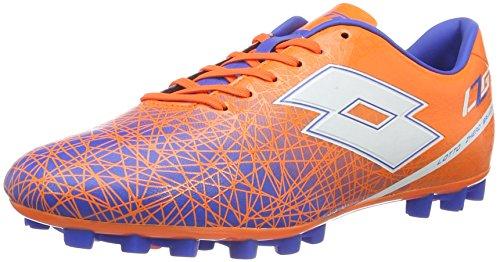 Lotto Lzg VIII 700 HG28, Chaussures de foot homme, Multicolore - Naranja / Blanco (Fant Fl / Wht), 46 EU