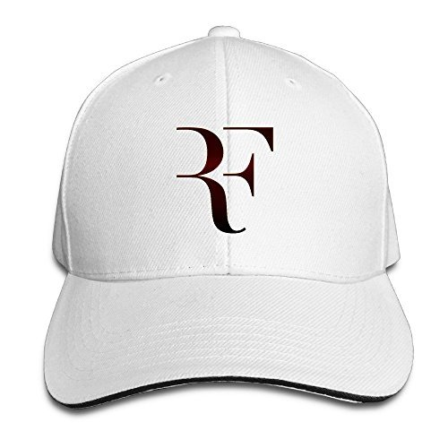 Huseki Roger Federer Sandwich Baseball Caps For Unisex Adjustable White