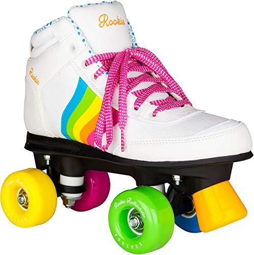 Rookie  -Forever Rainbow - Patins à 4 roues - Mixte Adulte - Blanc (multicolore) - 38