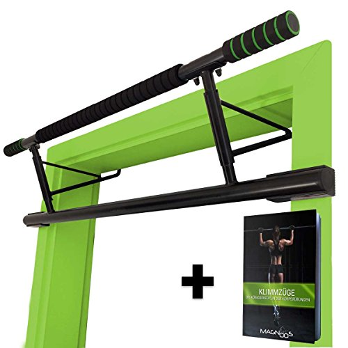 MAGNOOS Barre de Traction Matador | Premium Barres de Musculation pour la Porte | Amovible Simple | sans Vis ou Fixation | Fitness, Gym, Sportive, sur Pied, Exercise | Rembourrage Antidérapant