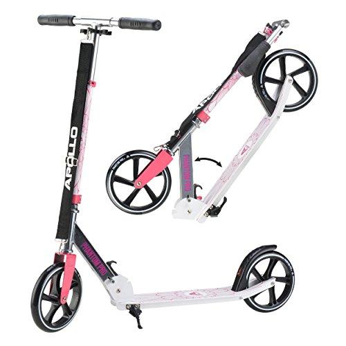 Apollo XXL Wheel Scooter 200 mm - Phantom Pro Rose est Un Trotinette City Scooter de Luxe, City-Roller Pliable et réglable en Hauteur, Kick Scooter pour Adultes et Enfants