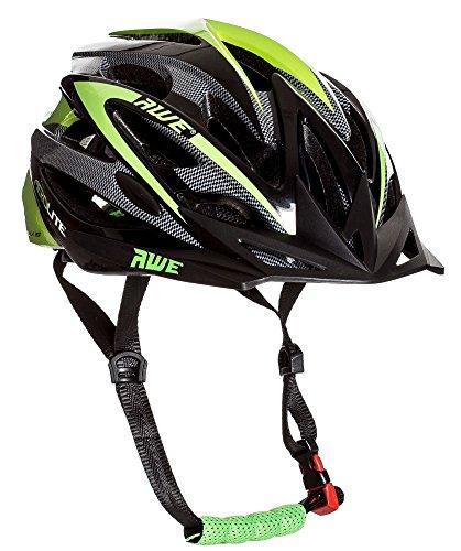 AWE Aerolite casque de vélo pour homme–Noir/Vert, taille 58–61cm
