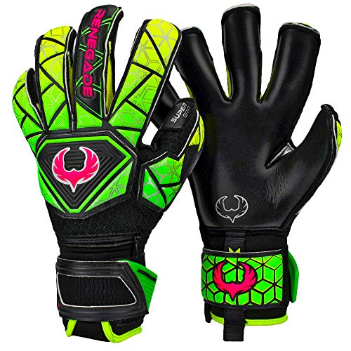 Renegade GK Vortex Venom Gants Gardien Football pour Enfants Taille 6, Roll Hybrid Cut, Level 3 avec 6D Super Mesh Body & German Hyper Grip - Garantie 30 Jours