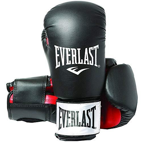 Everlast Rodney 1803 12 oz Gants de Boxe entraînement muscles pectoraux mixte adulte Noir/Rouge 30 cm