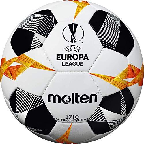 Molten 1710 UEFA Europa League Ballon de Match Officiel Unisexe, Mixte, F5U1710-G9, Blanc/Noir/Orange, Size 5