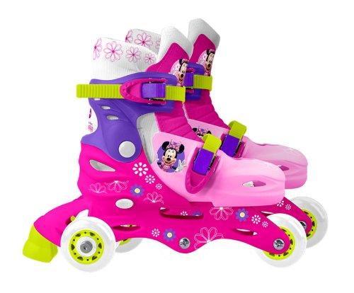 Minnie Bowtique - J100730 - Vélo et Véhicule pour Enfant - Patins Ajustables Triskate - Taille 27 29