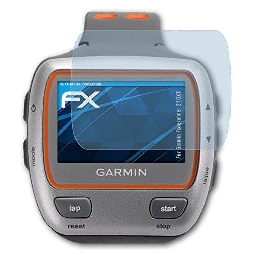 atFoliX Film Protection d'écran pour Garmin Forerunner 310XT Protecteur d'écran - 3 x FX-Clear Ultra Claire Film Protecteur