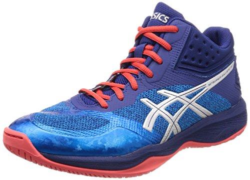 ASICS Netburner Ballistic FF MT, Chaussures de Volleyball Homme, Multicolore (Race Blue/Silver 400), 42.5 EU