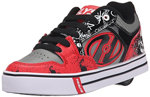 Heelys Motion Plus, Chaussures de Tennis garçon, Rouge (Red/Black/Grey/Skulls), 39 EU