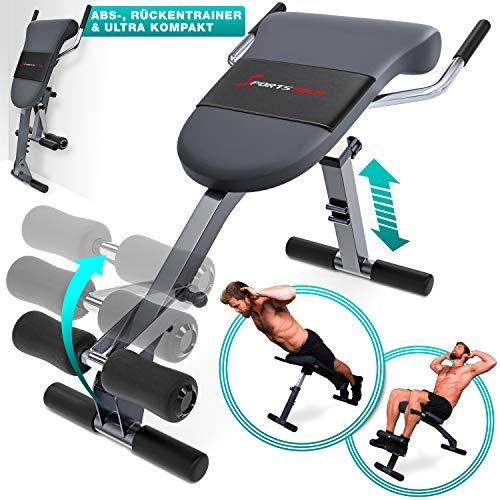 Sportstech Appareil de Musculation du Dos et des abdominaux 3-en-1 BRT200, Banc Sit-up Pliable incliné, Hyper Extension, Multifonctionnel, Fitness Maison, 5 Angles d'Inclinaison (BRT200)