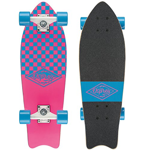 Osprey Checkers Longboard Mixte Adulte, Rose, 27,5'