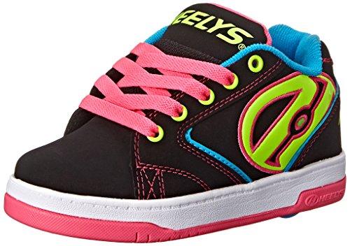 Heelys Propel 2.0 770512, Chaussures roue fille, Black/Neon Multi, 39