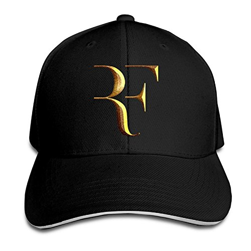 Biotio Professional Tennis Player Roger Federer Logo Sandwich Peaked Baseball Caps/Hats Adjustable For Unisex