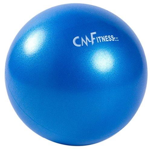 CM Fitness Balle de Pilates Antidérapante 23cm - Ballon Paille d'Exercice - Mini Ballon pour Pilates (Bleu)