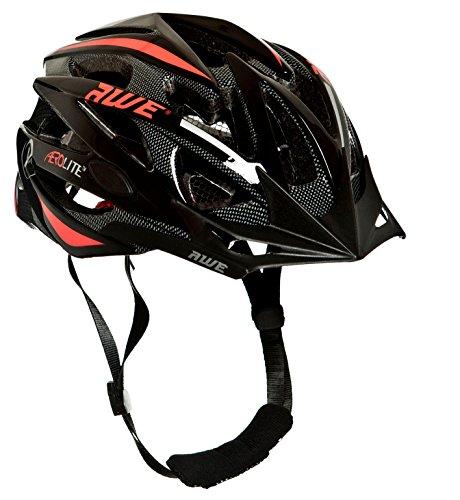 AWE Aerolite REMPLACEMENT DE CRASH GRATUIT 5 ANS * Casque de vélo pour homme Taille 56-58 cm Noir/rouge