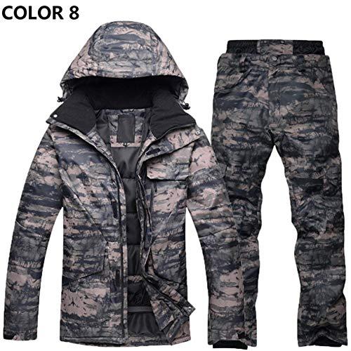 chivalrylist Combinaison de Ski Hommes Arctic Queen placage Hiver Combinaison de Ski de Camouflage épaisse Chaude extérieure imperméable