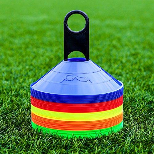 FORZA Plots de Marquage de Haute Visibilité - 50 Pièces avec Porte-Plot Inclus (Multicolore)