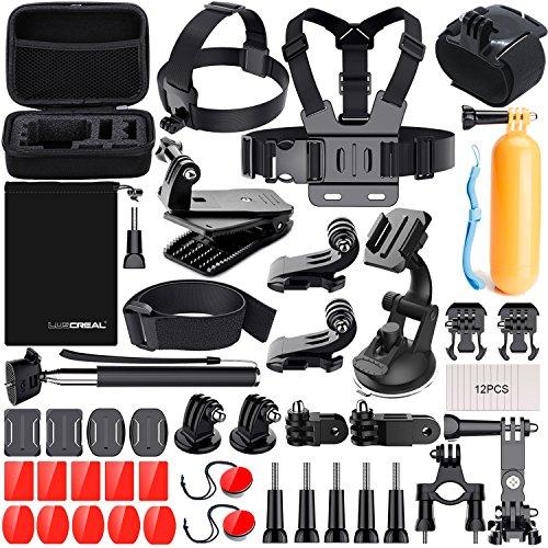 LUSCREAL Action Caméras Accessoires, Accessoires pour Go Pro Hero 7 Hero 2018 Hero 6 5 4 3 2 1 Hero Session 5 Black AKASO EK7000 Apeman et La Plupart des Caméras De Sport