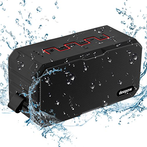 Enceinte Bluetooth Haut Parleur Bluetooth Waterproof Sans Fil Portable - Deepow 10W Enceinte Bluetooth Speaker Puissante étanche IP67 3000mAh Compatible Android iPhone TV et Autres Appareils Bluetooth