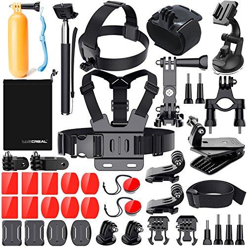 LUSCREAL Accessoires pour Gopro Hero 7 6 5, Action Caméras Accessoires pour Go Pro Hero 2018 Hero Session 5 4 3 2 1 Black AKASO EK7000 Apeman et La Plupart des Caméras De Sport