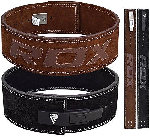 RDX Dynamophilie Ceinture Cuir Vachette Boucle Musculation Fitness Bodybuilding Lifting Belt Lombaire Halterophilie