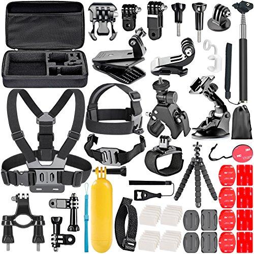 Neewer pour GoPro Hero 7/6/5/4 Session, Hero 1/2/3/3+/4/5, SJ4000/5000 58-en-1 Action Caméra Kit d'Accessoires, Nikon et Sony Sport DV Natation Aviron Escalade Vélo Camping et Autres