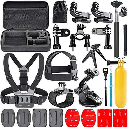 Navitech 18 in 1 Kit d'Accessoires pour Caméras d'Action pour le Campark ACT74 Sport 4K/1080P WiFi 16MP Action Camera