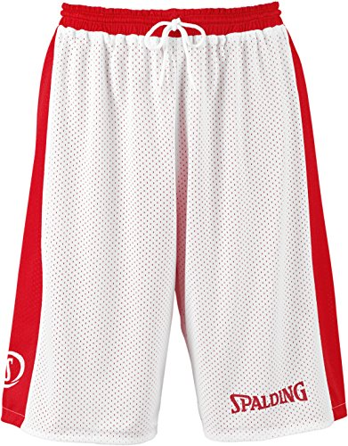 SPALDING - ESSENTIAL REVERSIBLE SHORT - Short de basket - Short reversible - Confort maximal - rouge/blanc - M