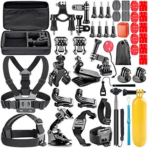 Neewer 44-en-1 Kit d'Accessoires pour Caméra Action GoPro Hero 7 6 5 1 2 +3 3 SJ4000 5000 6000 DBPOWER AKASO VicTsing APEMAN WiMiUS Rollei QUMOX Lightdow Campark et Sony Sports DV etc.